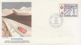 Enveloppe  FDC  1er  Jour   YOUGOSLAVIE    Jeux   Olympiques   SARAJEVO   1984 - Invierno 1984: Sarajevo