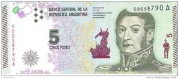 Argentina - Pick 359 - 5 Pesos 2015 - Unc - Argentine