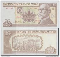 2005-BK-6 CUBA 10$ MAXIMO GOMEZ UNC LANCHA. - Cuba