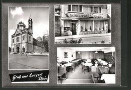 AK Speyer / Rhein, Café-Konditorei Berthold, Wormserstrasse 23 - Worms