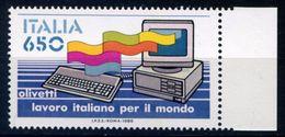 327> ITALIA 1986 < COMPUTER OLIVETTI > Nuovo Da Lire 650 = Valore Catalogo € 3,00 - 6. 1946-.. Repubblica
