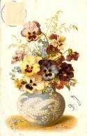 [DC10824] CPA - FIORI - AUGURALE - Viaggiata 1902 - Old Postcard - Fiori