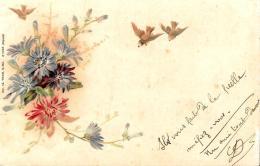 [DC10826] CPA - FIORI - AUGURALE - Viaggiata 1902 - Old Postcard - Blumen