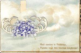 [DC10827] CPA - FIORI - AUGURALE - RILIEVO - Viaggiata - Old Postcard - Fiori