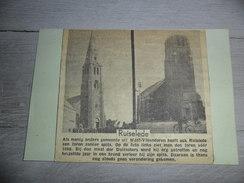 Origineel Knipsel ( 1011 ) Uit Tijdschrift Op Licht Karton Geplakt :  Kerk  Ruysselede  Ruislede - Ohne Zuordnung