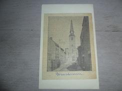 Origineel Knipsel ( 1013 ) Uit Tijdschrift Op Licht Karton Geplakt :  Kerk  Waerdamme  Waardamme - Ohne Zuordnung