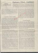 MILITARIA 14/18 LETTRE À TOUS LES FRANÇAIS PATIENTE EFFORT CONFIANCE E. DURKHEIM SUR COUPURE DE PRESSE 2 PAGES : - 1914-18