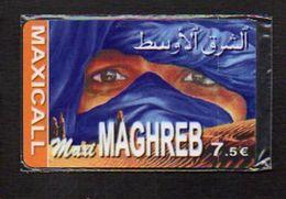 Télécarte Prépayée Maxi Maghreb  à 7,50 Euros Avec Code à Gratter / (neuve Blister ) - Frankrijk