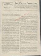 MILITARIA 14/18 LETTRE À TOUS LES FRANÇAIS LES FORCES FRANÇAISES E. DURKHEIM SUR COUPURE DE PRESSE 2 PAGES : - 1914-18