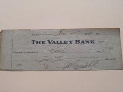 FRESNO California -The VALLEY BANK ( Order ) Anno 1923 ( Zie Foto Details ) !! - Etats-Unis