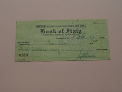 FRESNO California - BANK Of ITALY ( Order ) Belmont - Blackstone Branch - Anno 1929 ( Zie Foto Details ) !! - United States