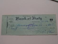 FRESNO California - BANK Of ITALY ( Order ) Fresno Branch - Anno 1926 ( Zie Foto Details ) !! - Etats-Unis