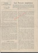 MILITARIA 14/18 LETTRE À TOUS LES FRANÇAIS LES FORCES ANGLAISES L. CAZAMIAN SUR COUPURE DE PRESSE 2 PAGES : - 1914-18