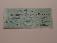 FINDLAY, O. AMERICAN NATIONAL BANK ( Order ) Anno 1916 ( Zie Foto Details ) !! - United States