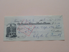 FRESNO Ca The FARMER'S NATIONAL BANK Of FRESNO ( Order ) Anno 1908 ( Zie Foto Details ) !! - Etats-Unis