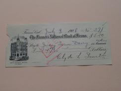 FRESNO Ca The FARMER'S NATIONAL BANK Of FRESNO ( Order ) Anno 1908 ( Zie Foto Details ) !! - USA