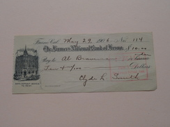 FRESNO Ca The FARMER'S NATIONAL BANK Of FRESNO ( Order ) Anno 1906 ( Zie Foto Details ) !! - USA