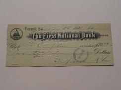 FRESNO Ca The FIRST NATIONAL BANK ( Order ) Anno 1921 ( Zie Foto Details ) !! - Etats-Unis