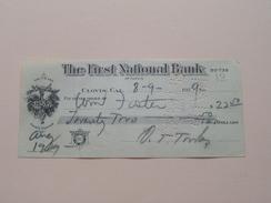 CLOVIS Ca - The FIRST NATIONAL BANK ( Order ) Anno 1929 ( Zie Foto Details ) !! - USA