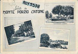 Lazio-roma-monte Porzio Catone Vedute Via Roma Piazza Borghese Panorama Saluti Da Monte Porzio Catone Anni 40/50 - Altre Città