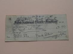 FIRST NATIONAL BANK Of FINDLAY Ohio ( Order ) Anno 1918 ( Zie Foto Details ) !! - Etats-Unis