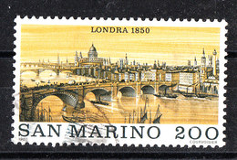 San Marino -  1980. Ponte Sul Tamigi. Lonra Nel 1800. Bridge Over The Thames. London In 1800. - Bruggen