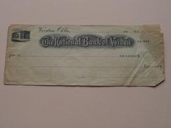 The NATIONAL BANK Of VERDEN Okla ( 2 / Two Orders ) Anno 193? ( Zie Foto Details ) !! - Etats-Unis