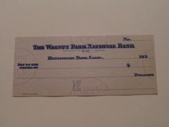 The WALNUT PARK NATIONAL BANK - HUNTINGTON PARK Cal. ( 2 / Two Orders ) Anno 193? ( Zie Foto Details ) !! - United States