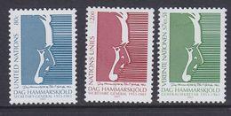 UNO 2001 NY, Geneva, Vienna Dag Hammerskjold 3v ** Mnh (36906P) - Gezamelijke Uitgaven New York/Genève/Wenen