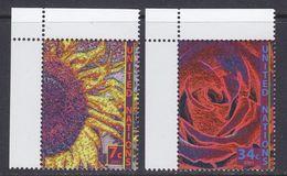 UNO 2001 NY Flowers 2v ** Mnh (36906Q) - New York - Hoofdkwartier Van De VN