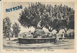 Lazio-roma-monte Porzio Catone Piazza Borghese La Fontana Bella Animata Veduta Con Donne Che Prendono L'acqua Anni 40/50 - Altre Città