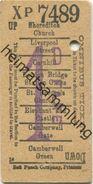 England - London - Omnibus Ticket - Fahrschein - Trenes
