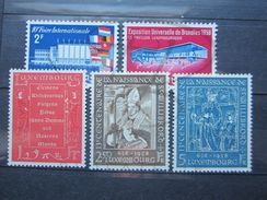 VEND BEAUX TIMBRES DU LUXEMBOURG N° 540 - 544 , XX !!! - Unused Stamps