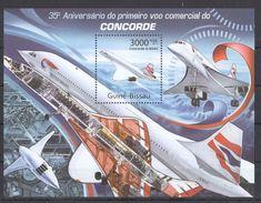 D23 2011 GUINE-BISSAU AVIATION CONCORDE 1BL MNH - Concorde