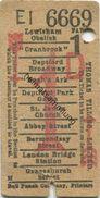 England - London - Thomas Tilling Limited - Ticket - Fahrschein - Trenes