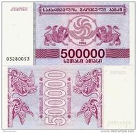 GEORGIA       500,000 (Lari)       P-51       1994       UNC  [ 500000 ] - Georgia