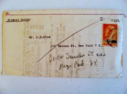 Cover From Surinam Suriname 1951 To Usa Overprint Paramaribo - Suriname