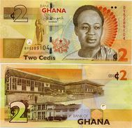 GHANA       2 Cedis       P-37Ad       1.7.2015       UNC - Ghana