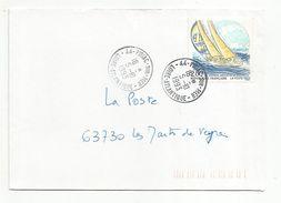 OBLITERATION MANUELLE DE PIRIAC SUR MER LOIRE ATLANTIQUE 1993 - Marcophilie (Lettres)