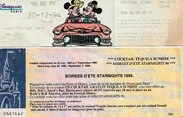 DISNEY - Lot De 8 Tickets D'entrée à DISNEYLAND Paris - Tickets D'entrée