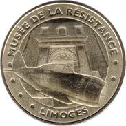 87 HAUTE VIENNE LIMOGES MUSÉE DE LA RÉSISTANCE AVION MÉDAILLE MONNAIE DE PARIS 2012 JETON MEDALS TOKEN COINS - 2012