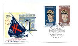 FDC NEW HEBRIDES GENERAL DE GAULLE 20/07/1970 - FDC