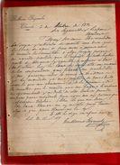Courrier Espagne Guillermo Goyeneche Elizondo 3-?-1896 - écrit En Espagnol - España