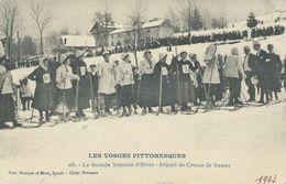 88 Vosges Les Vosges Pittoresques  La Grande Semaine D'Hiver Départ De La Course De Dames 1923 - Col De Bussang