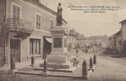 70 Haute Saône Conflans Sur Lanterne Monument Aux Morts 1914-1918 Et Rue Victor Hugo 1923 - Other Municipalities