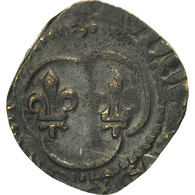 France, Louis XI, Denier Tournois, Châlons-en-Champagne, TB+, Billon - 1461-1483 Louis XI Le Prudent