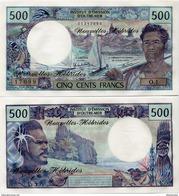 NEW HEBRIDES       500 Francs       P-19c       ND (1979)       UNC - New Hebrides