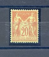 France - N°96 - Neuf** - Très Bon Centrage - Luxe - Signé Calves - 2 Scans - (F205) - 1876-1898 Sage (Type II)