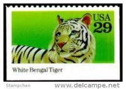 Sc#2709 1992 USA Wild Animal Stamp White Bengal Tiger WWF - W.W.F.
