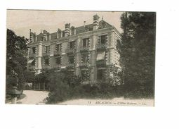Cpa ARCACHON Hotel Moderne Grand Hotel SANITAS Madame Lemétéyer Directrice Carte De Visite De L'hotel - Arcachon